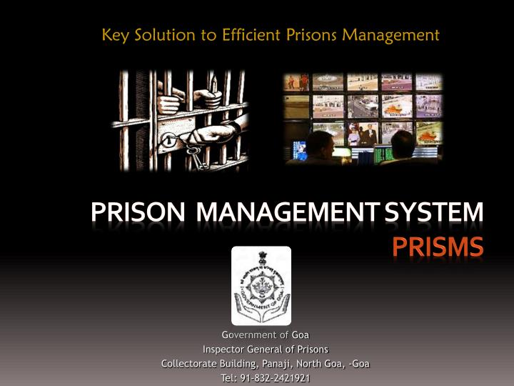 Ppt prison management system prisms powerpoint presentation id.