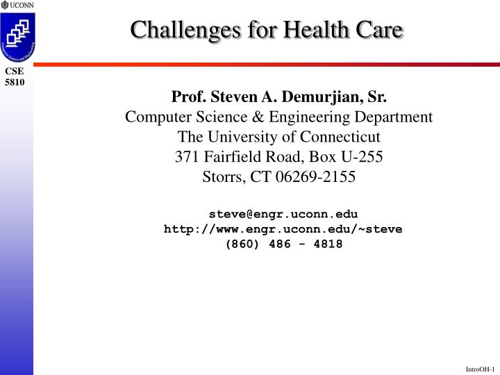 challenges for health care n.