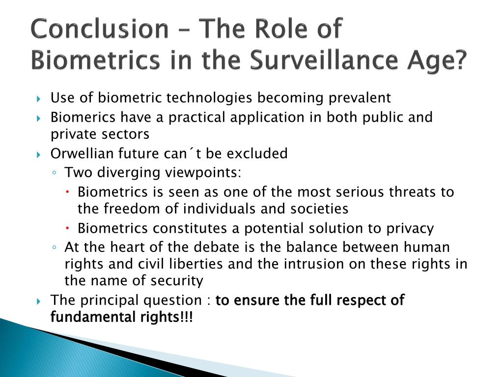 PPT - The Role of Biometrics in the Surveillance Age ? PowerPoint