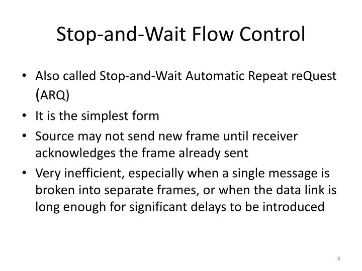 Stop-and-Wait Flow Control