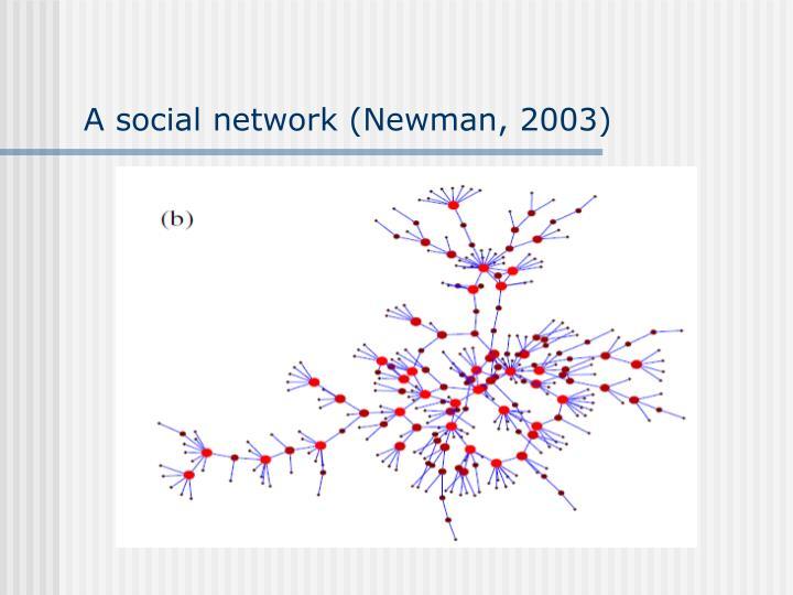 A social network (Newman, 2003)