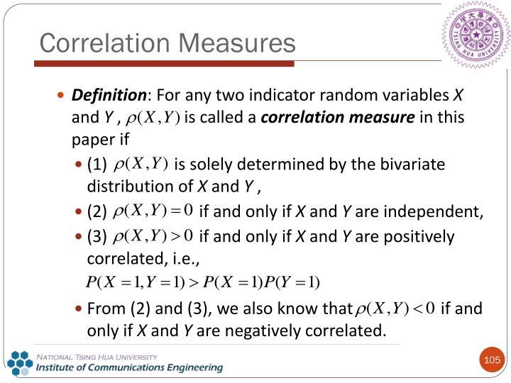 Correlation Measures