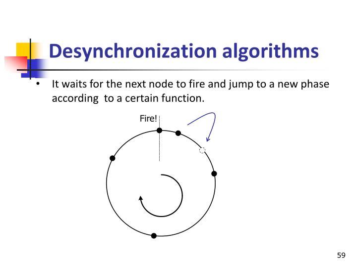 Desynchronization algorithms