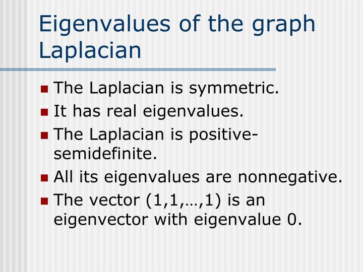 Eigenvalues of the graph Laplacian