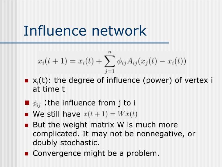 Influence network