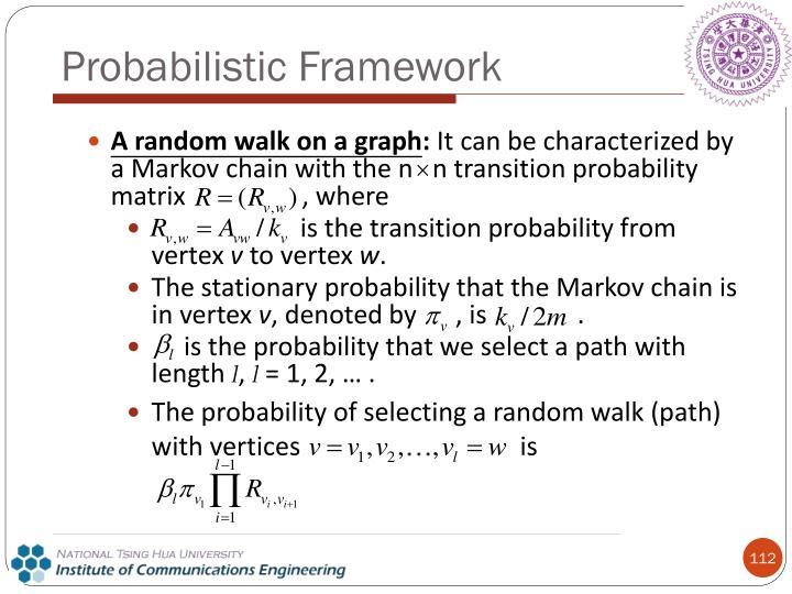 A random walk on a graph