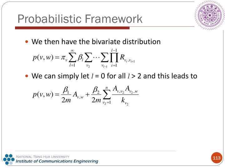 We then have the bivariate distribution