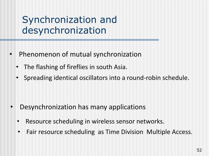 Synchronization and