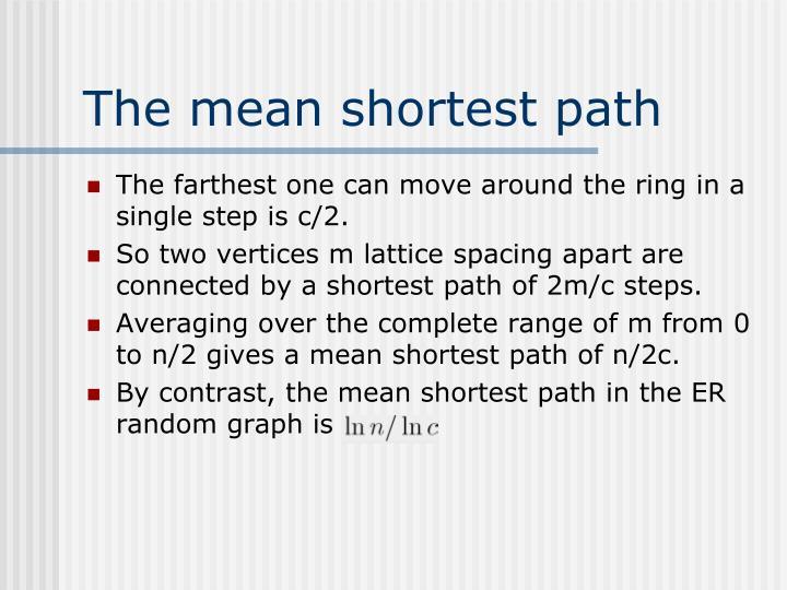 The mean shortest path