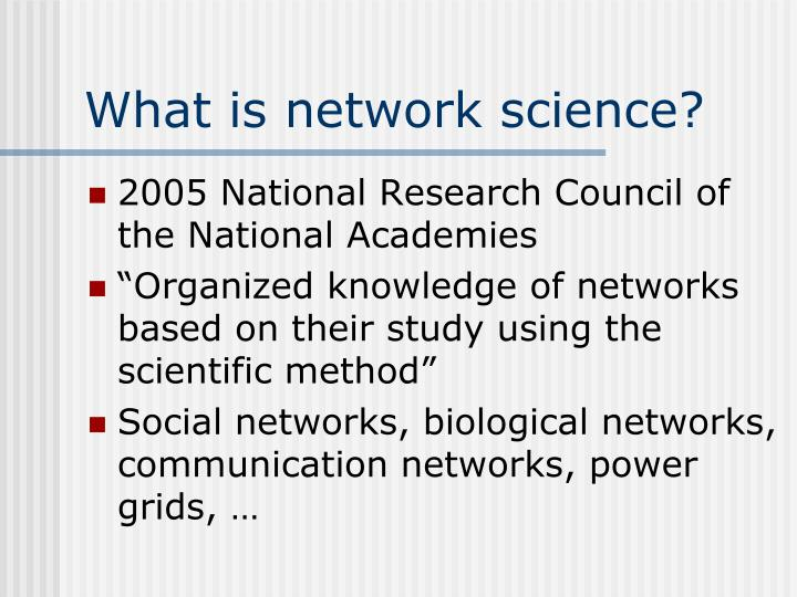 What is network science