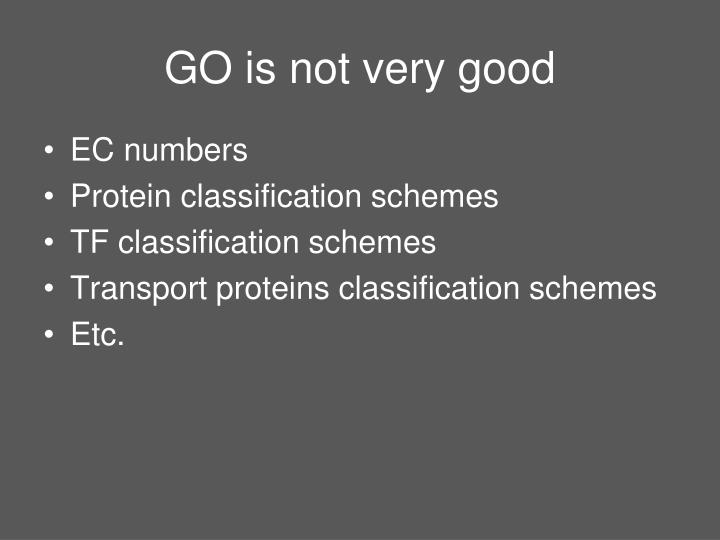 GO is not very good