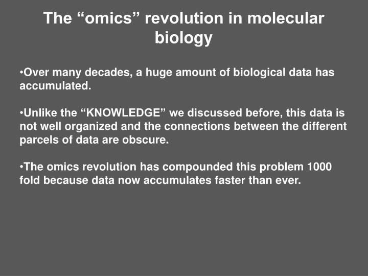 """The """"omics"""" revolution in molecular biology"""