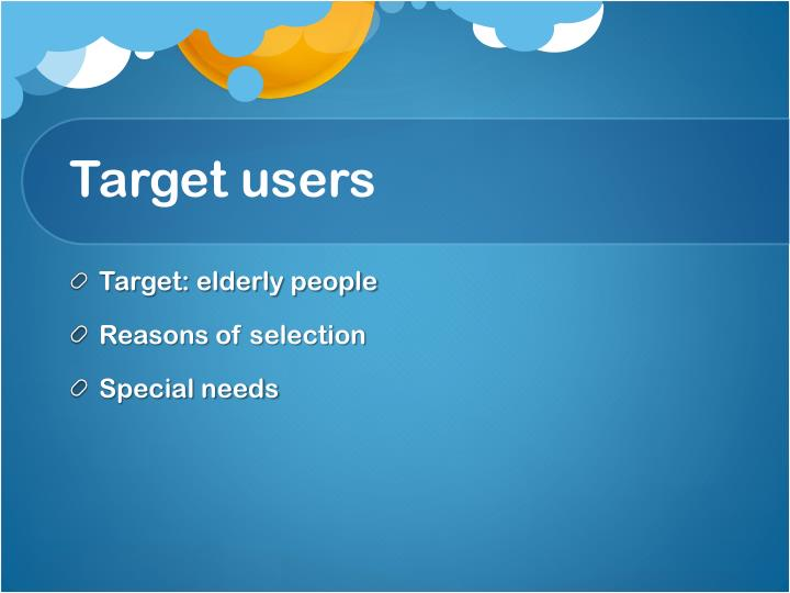 Target users