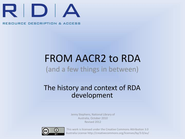 from aacr2 to rda n.