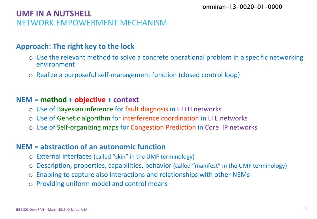 PPT - Abstract Overview on Unified Management Framework of