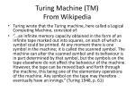 turing machine tm from wikipedia