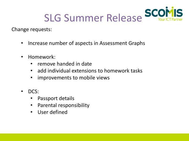 SLG Summer Release