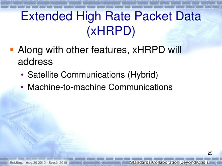 Extended High Rate Packet Data (xHRPD)