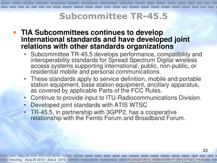 Subcommittee TR-45.5