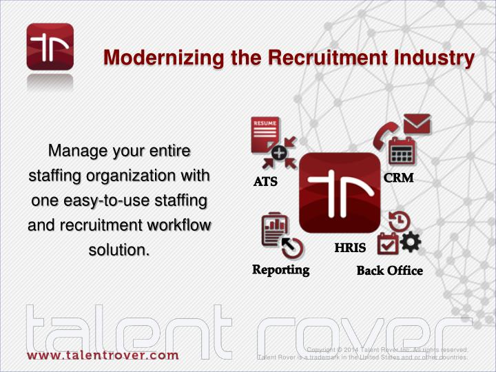 Modernizing the Recruitment Industry