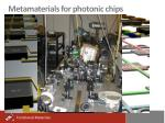 metamaterials for photonic chips1