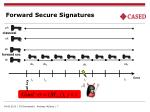forward secure signatures