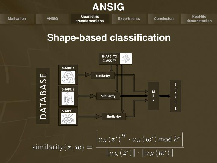 Shape-based classification