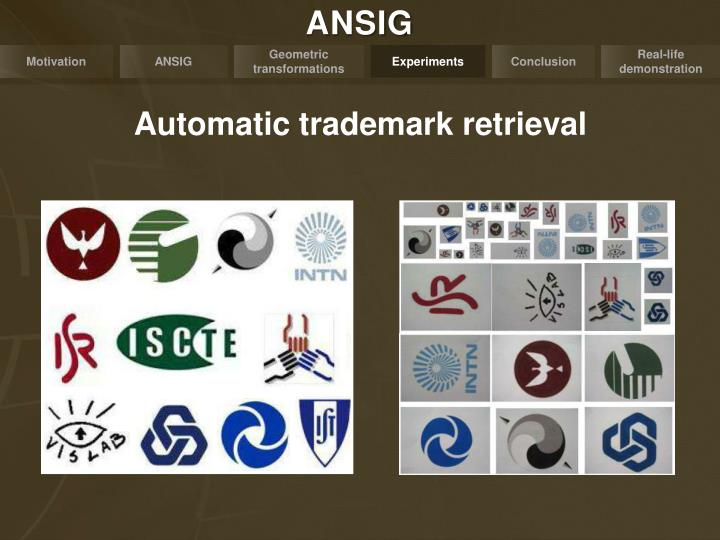 Automatic trademark retrieval