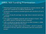 arra nsf funding prioritization
