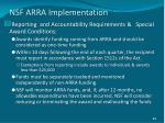 nsf arra implementation
