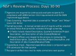 nsf s review process days 30 90