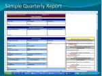 sample quarterly report