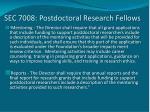 sec 7008 postdoctoral research fellows