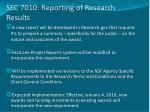 sec 7010 reporting of research results1