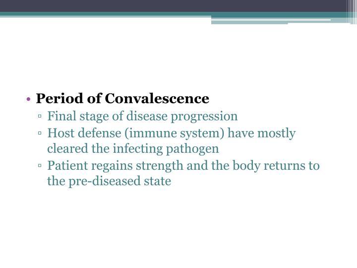 Period of Convalescence