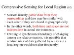 compressive sensing for local region 1 2