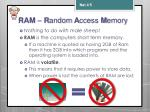 ram r andom a ccess m emory