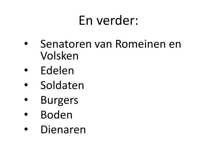 Senatoren van Romeinen en