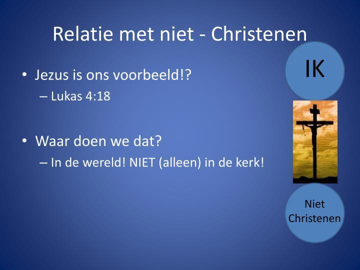 Relatie met niet - Christenen