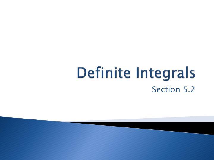 Definite integrals