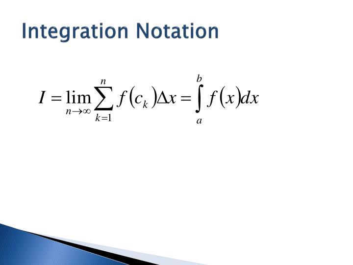 Integration Notation