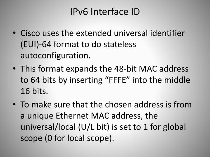 IPv6 Interface ID