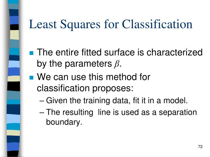 Least Squares for Classification