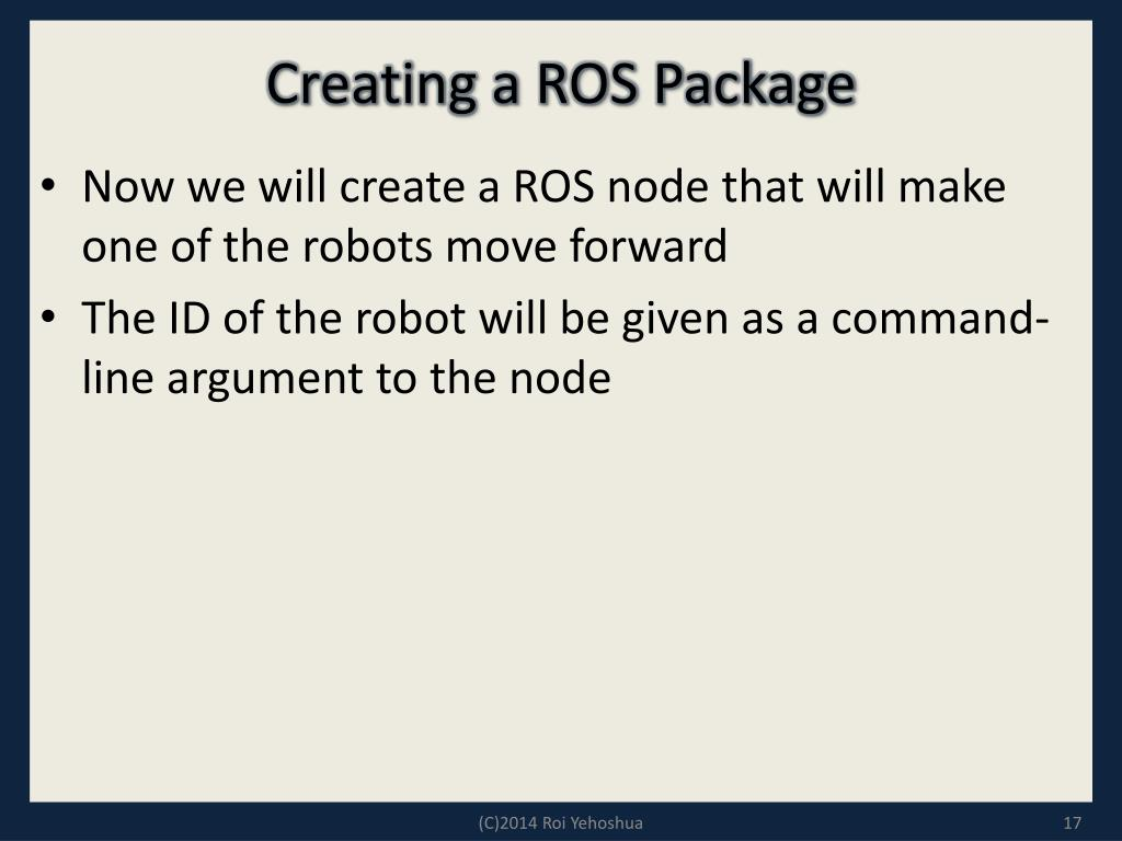 PPT - Multi-Robot Systems with ROS Lesson 3 PowerPoint