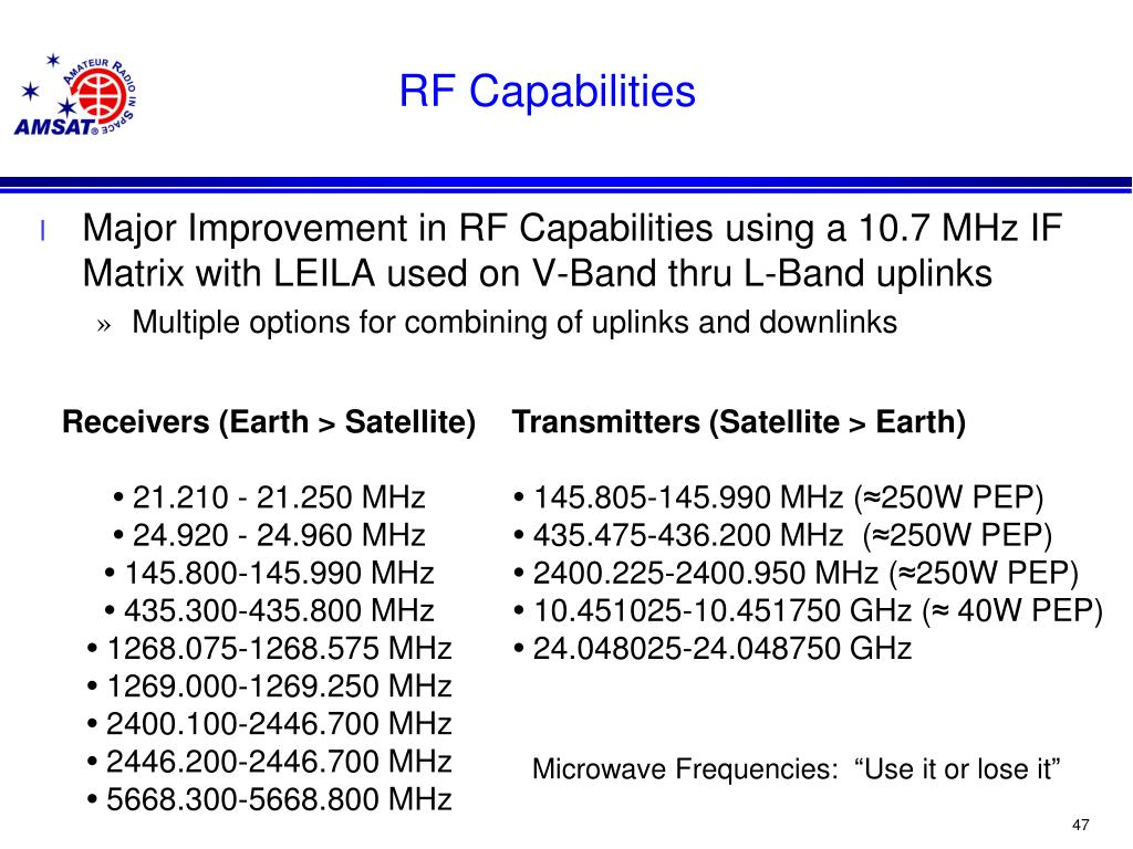 PPT - The Radio Amateur Satellite Corporation PowerPoint