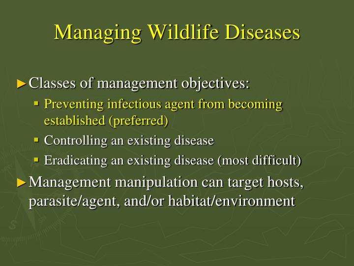 Managing Wildlife Diseases