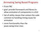 animating swing based programs