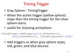 timing trigger