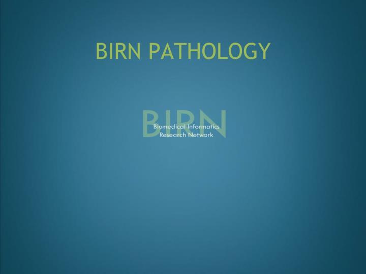 BIRN PATHOLOGY