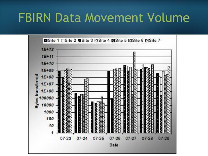 FBIRN Data Movement Volume